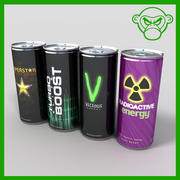 energy drinks 3d model