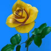 Rosa amarilla modelo 3d