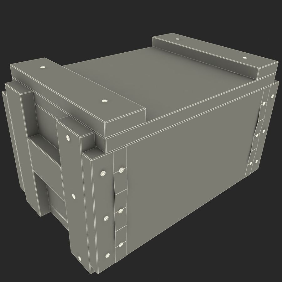 Ammo Box royalty-free 3d model - Preview no. 9