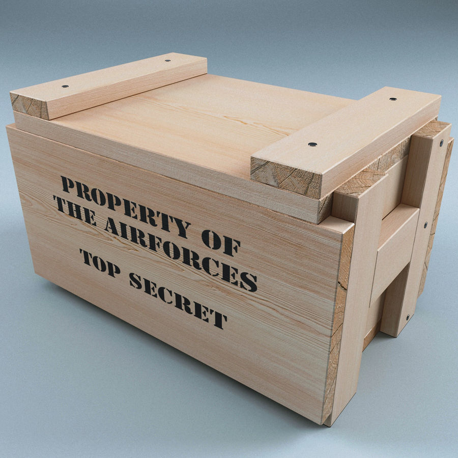 Ammo Box royalty-free 3d model - Preview no. 3