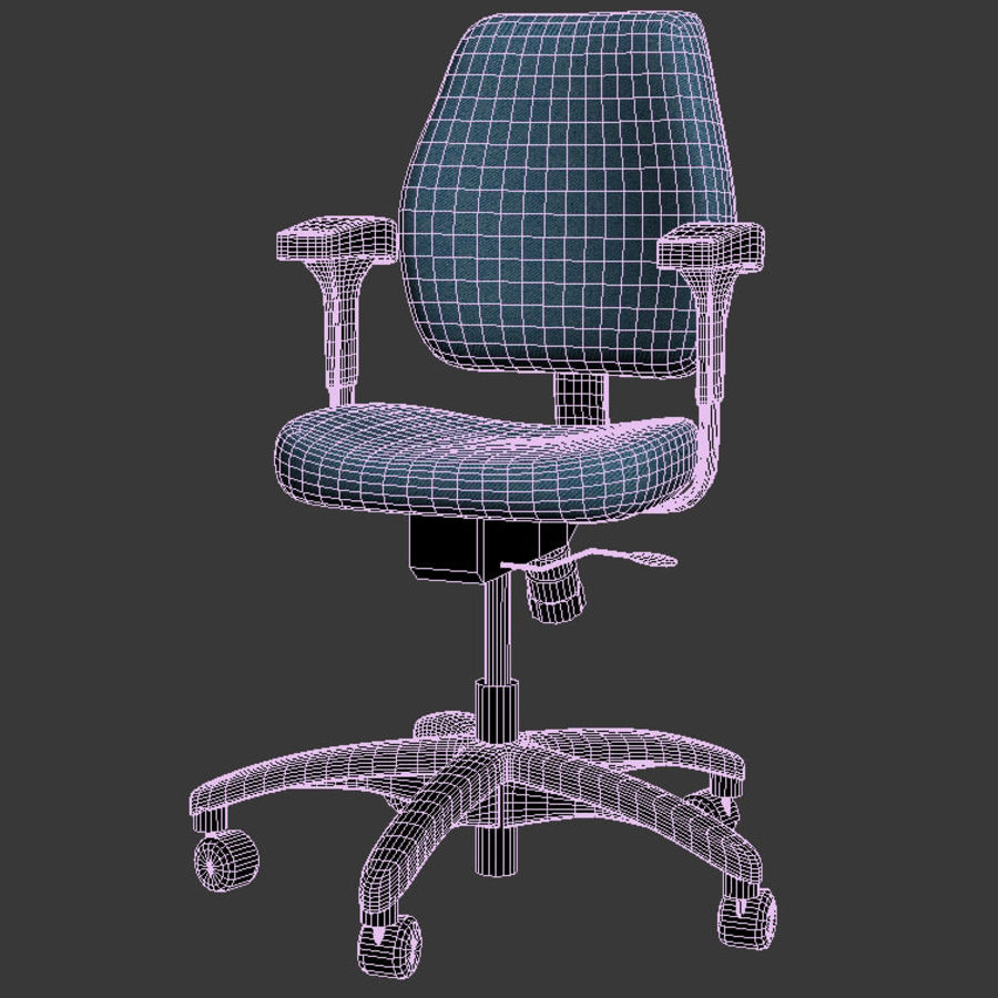 chaise de bureau royalty-free 3d model - Preview no. 3