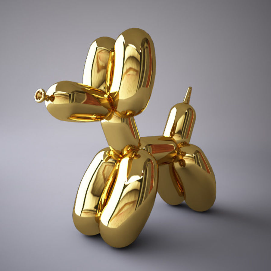 Jeff Koons Balloon Dog royalty-free 3d model - Preview no. 1