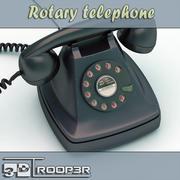 ロータリー電話 3d model