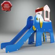 Слайд слон 3d model