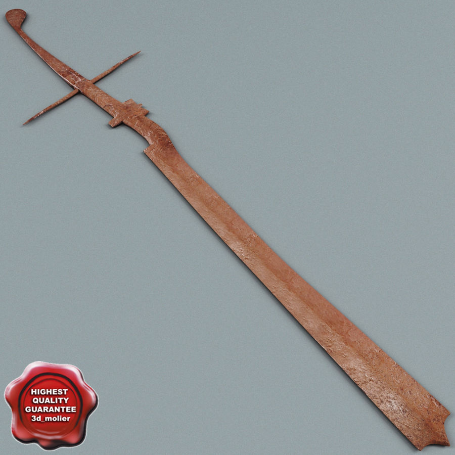 Old Rusty Sword royalty-free 3d model - Preview no. 1