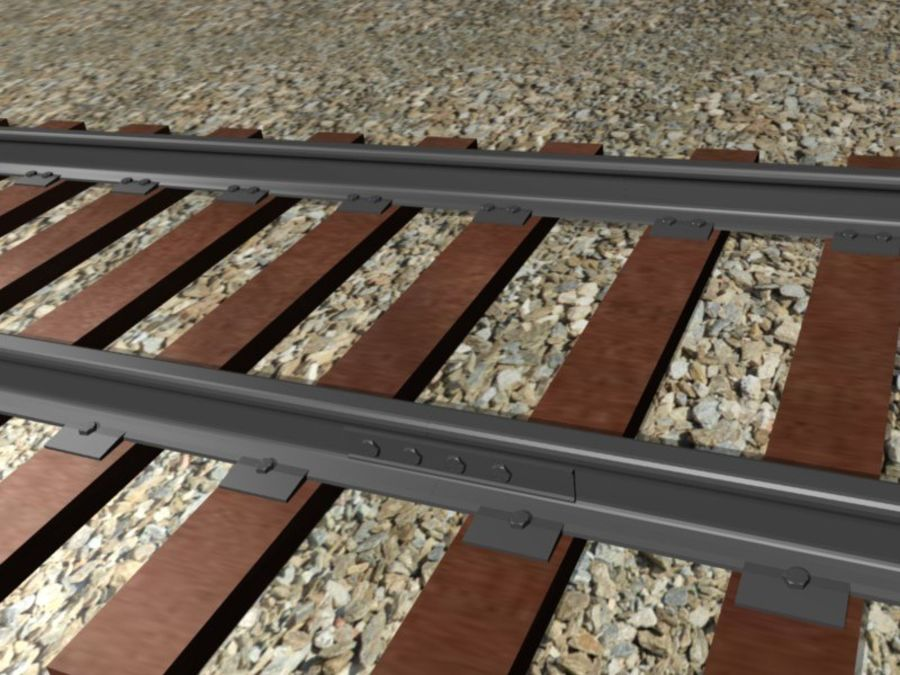 Järnväg royalty-free 3d model - Preview no. 3