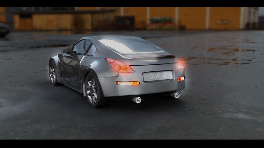 Nissan 350z royalty-free 3d model - Preview no. 2
