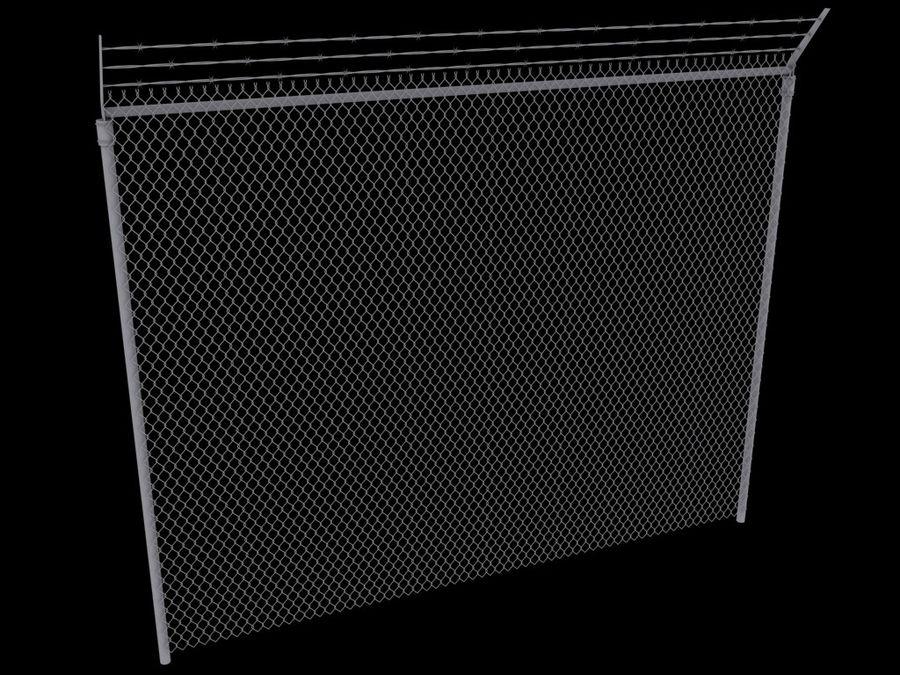 szczegółowy płot zawiera LOD royalty-free 3d model - Preview no. 3