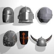 Medieval Armor & Helmets (low poly) 3d model