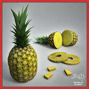 Pineapple fruit + BONUS 3d model