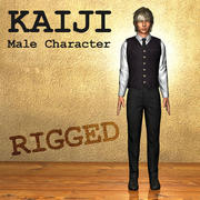 Kaiji Male Character Anime Style 3d model
