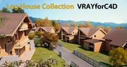 Log House - Chamonix 3d model