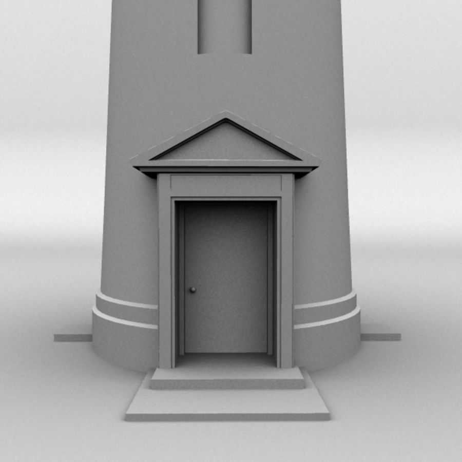 Lighthouse-Untextured royalty-free 3d model - Preview no. 2