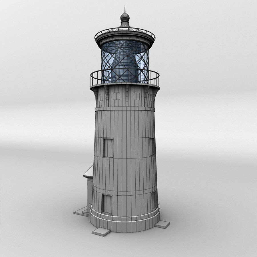 Lighthouse-Untextured royalty-free 3d model - Preview no. 5