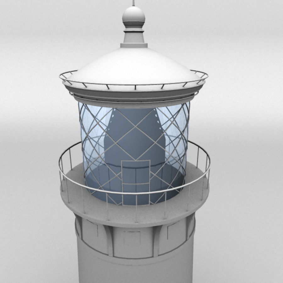 Lighthouse-Untextured royalty-free 3d model - Preview no. 3
