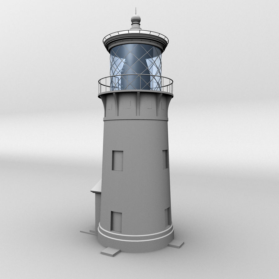 Lighthouse-Untextured royalty-free 3d model - Preview no. 1