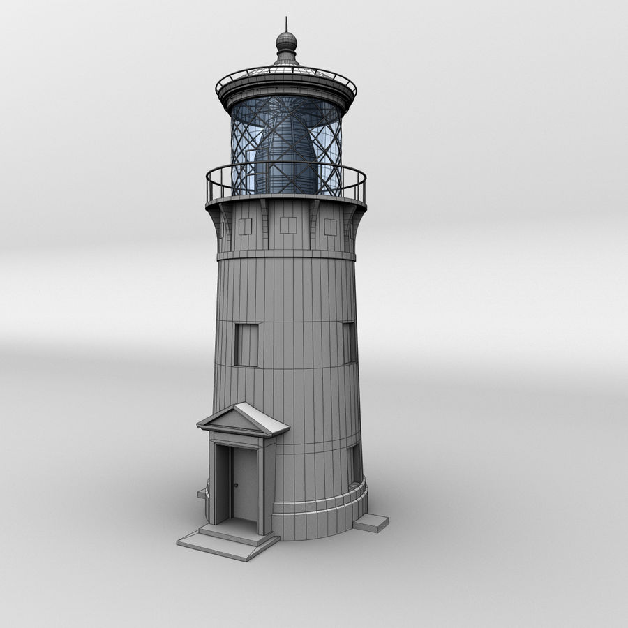 Lighthouse-Untextured royalty-free 3d model - Preview no. 4