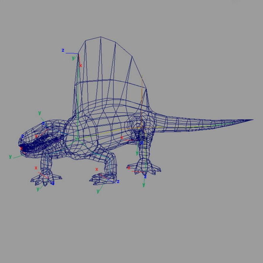 dimetrodon royalty-free 3d model - Preview no. 6