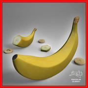 바나나 과일 + 보너스 3d model