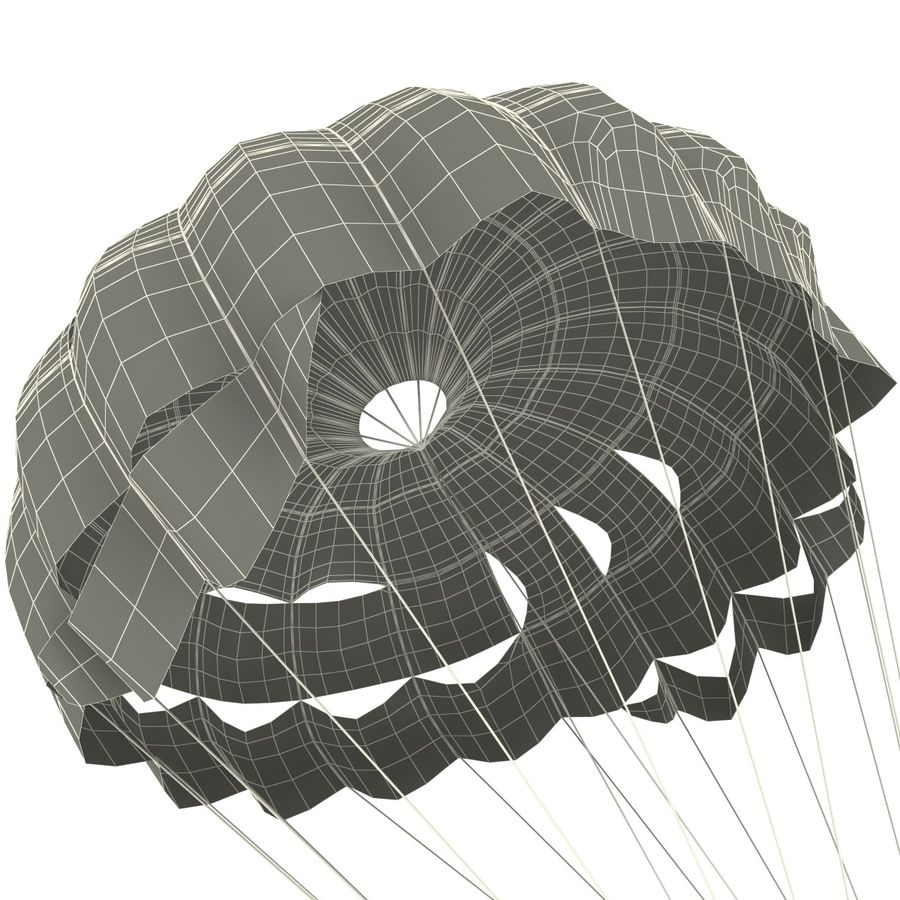 Parachute royalty-free 3d model - Preview no. 15