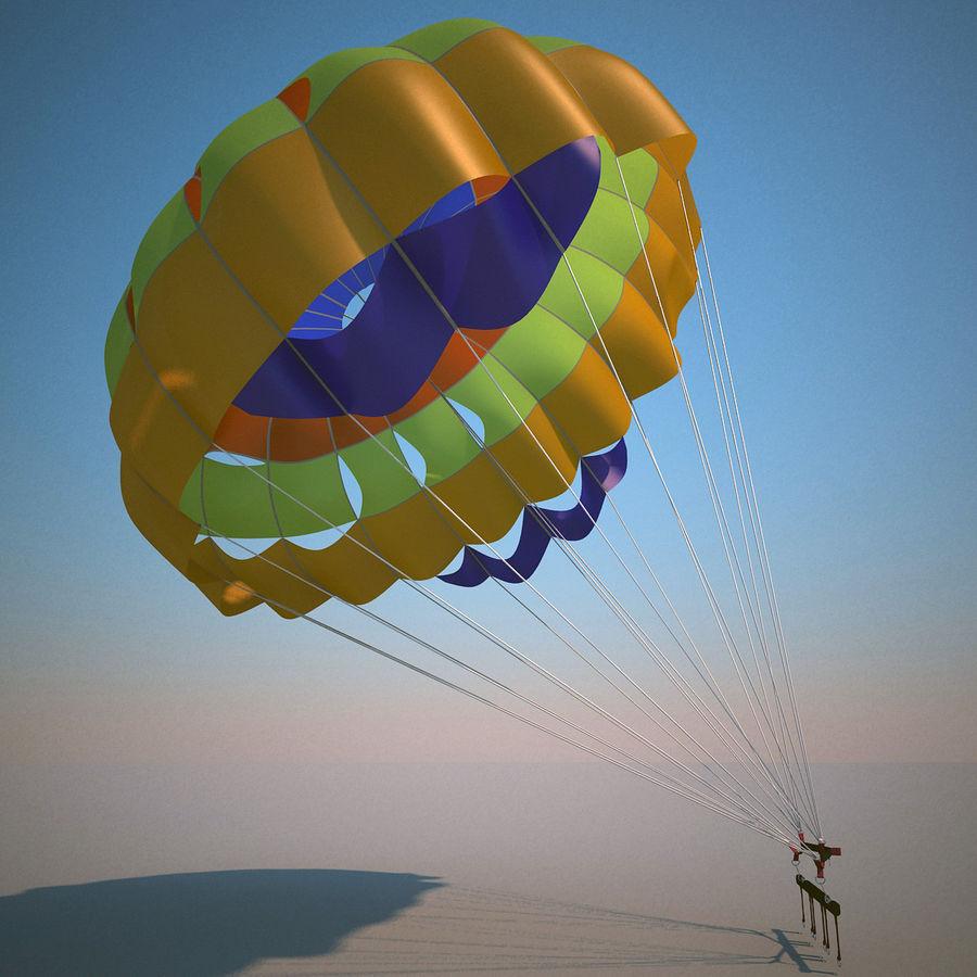 Parachute royalty-free 3d model - Preview no. 2