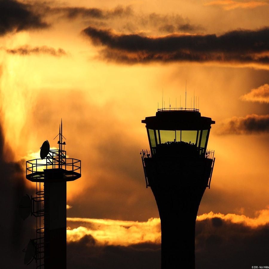 Airport Tower royalty-free 3d model - Preview no. 7