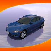 Voiture Mazda RX-8 3d model