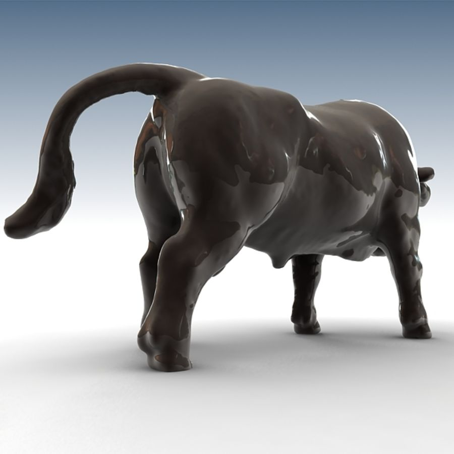 Bull 2 royalty-free 3d model - Preview no. 3