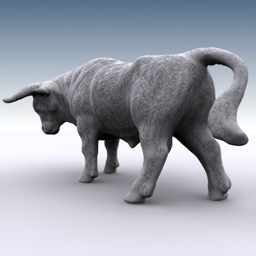 Bull 2 royalty-free 3d model - Preview no. 9