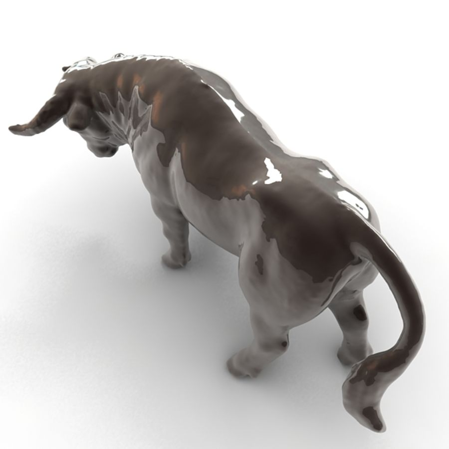 Bull 2 royalty-free 3d model - Preview no. 6
