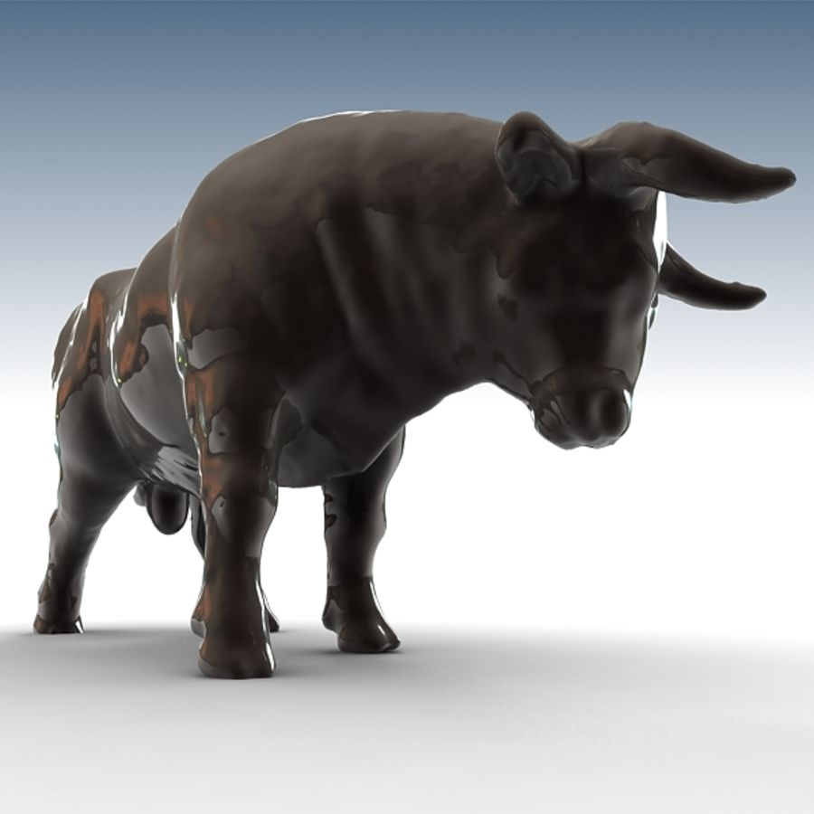 Bull 2 royalty-free 3d model - Preview no. 5