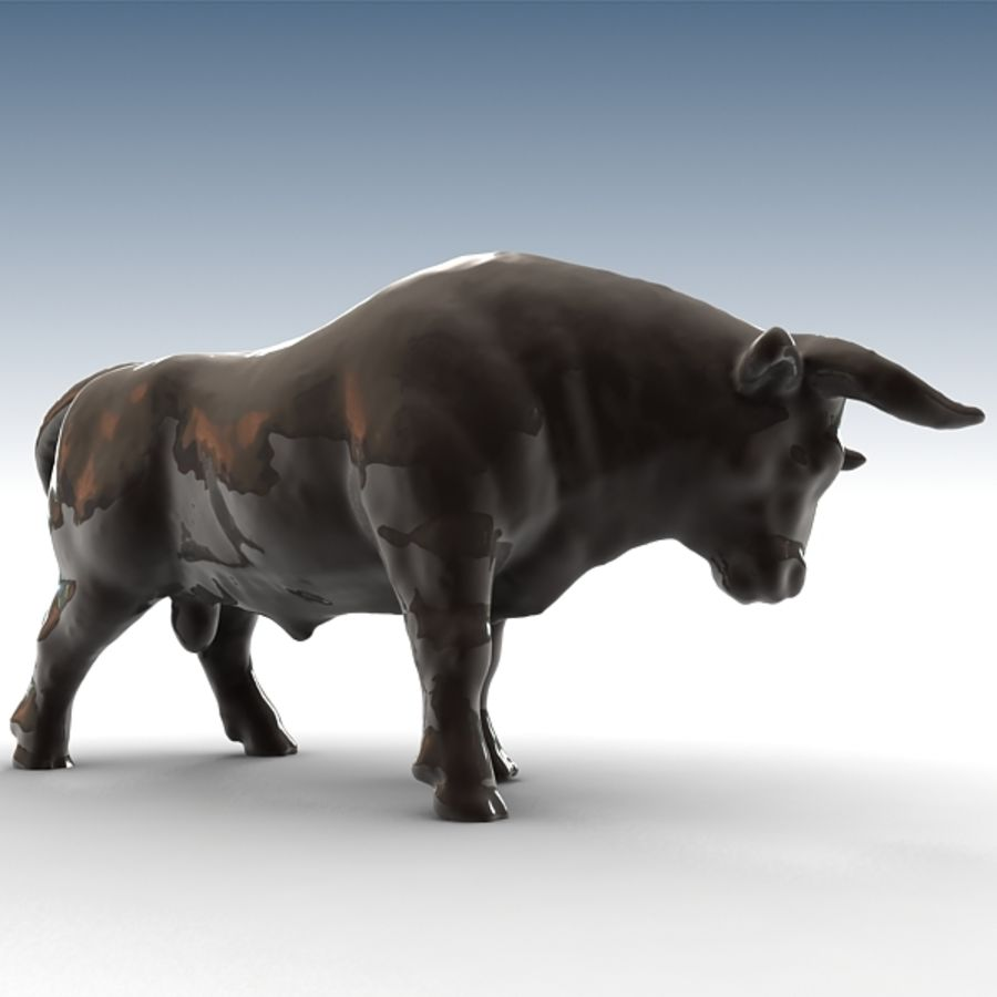 Bull 2 royalty-free 3d model - Preview no. 2