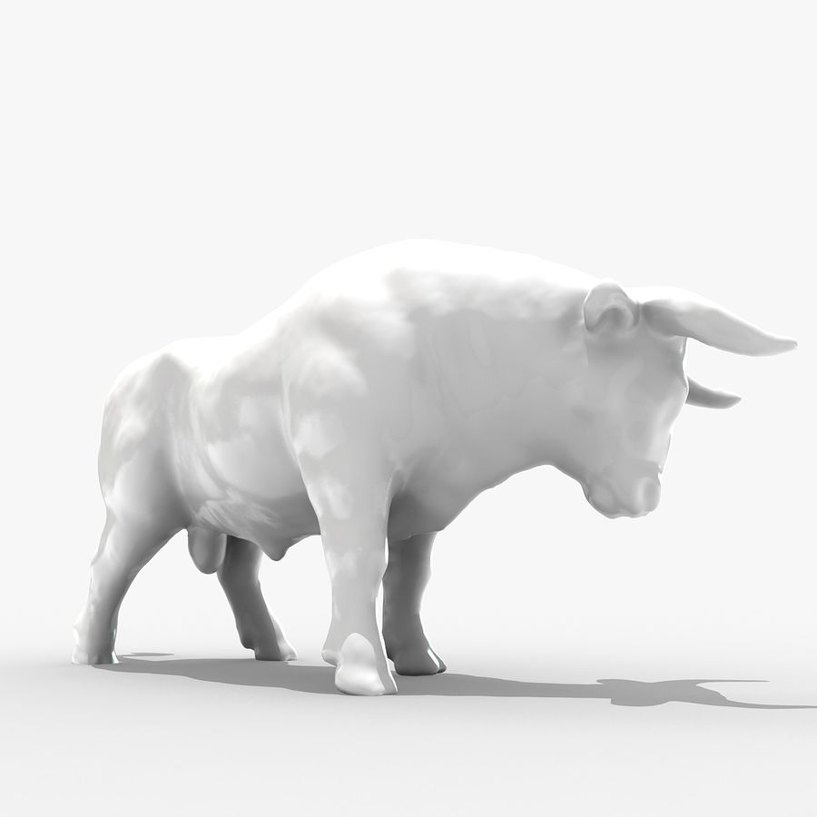 Bull 2 royalty-free 3d model - Preview no. 1