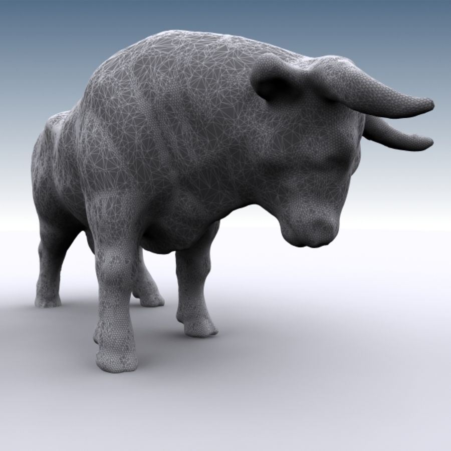 Bull 2 royalty-free 3d model - Preview no. 8