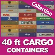 40 ft HD Konteyner koleksiyonu 3d model
