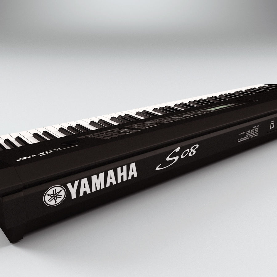 Synthesizer Yamaha S08 royalty-free 3d model - Preview no. 9