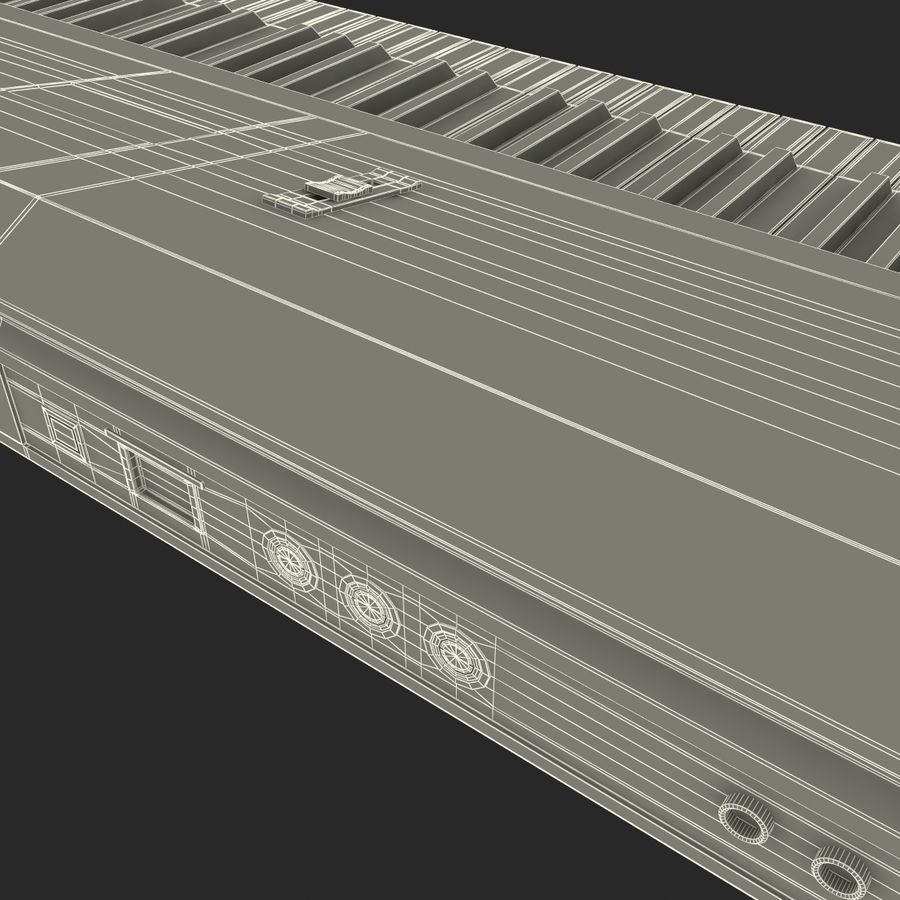 Synthesizer Yamaha S08 royalty-free 3d model - Preview no. 23