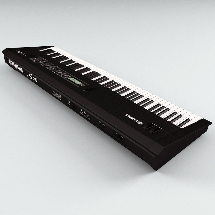 Synthesizer Yamaha S08 royalty-free 3d model - Preview no. 7