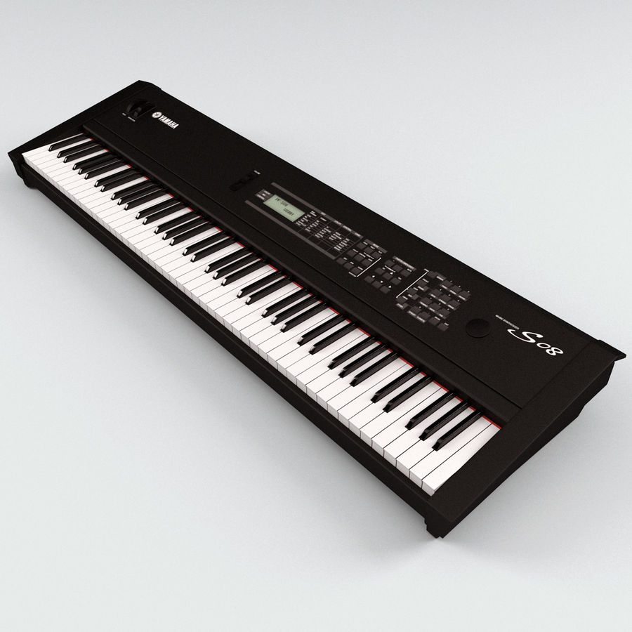 Synthesizer Yamaha S08 royalty-free 3d model - Preview no. 5