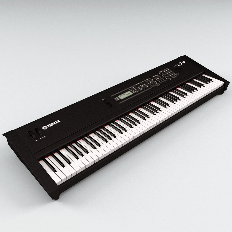 Synthesizer Yamaha S08 royalty-free 3d model - Preview no. 4