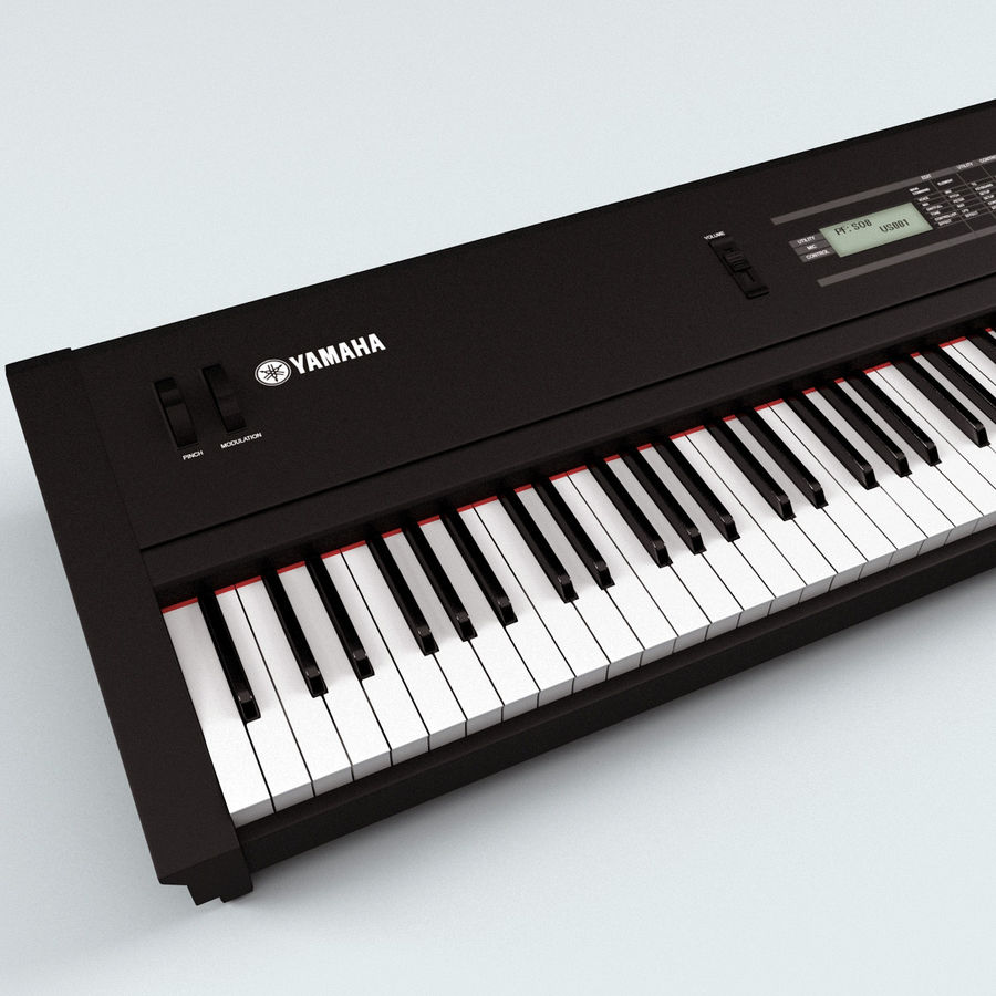 Synthesizer Yamaha S08 royalty-free 3d model - Preview no. 8