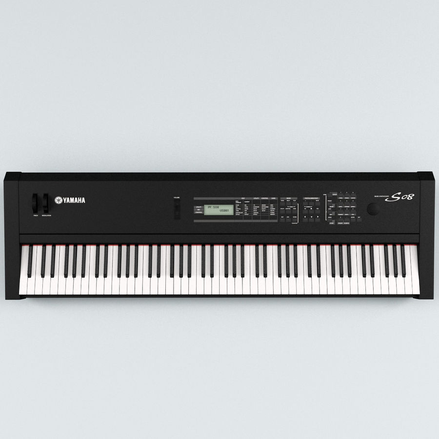 Synthesizer Yamaha S08 royalty-free 3d model - Preview no. 3