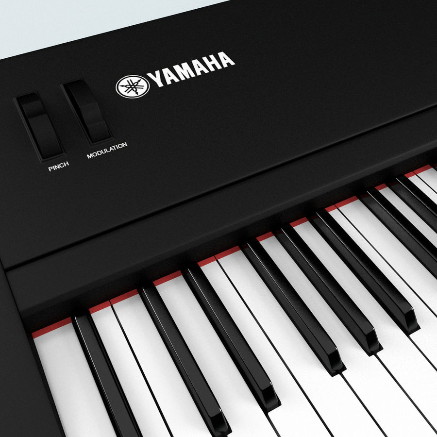 Synthesizer Yamaha S08 royalty-free 3d model - Preview no. 11