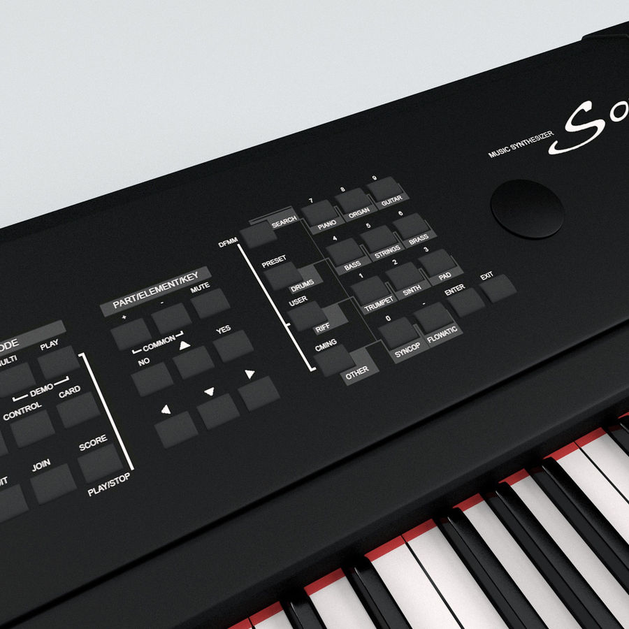 Synthesizer Yamaha S08 royalty-free 3d model - Preview no. 14