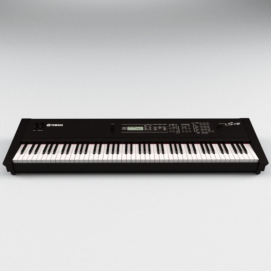 Synthesizer Yamaha S08 royalty-free 3d model - Preview no. 2