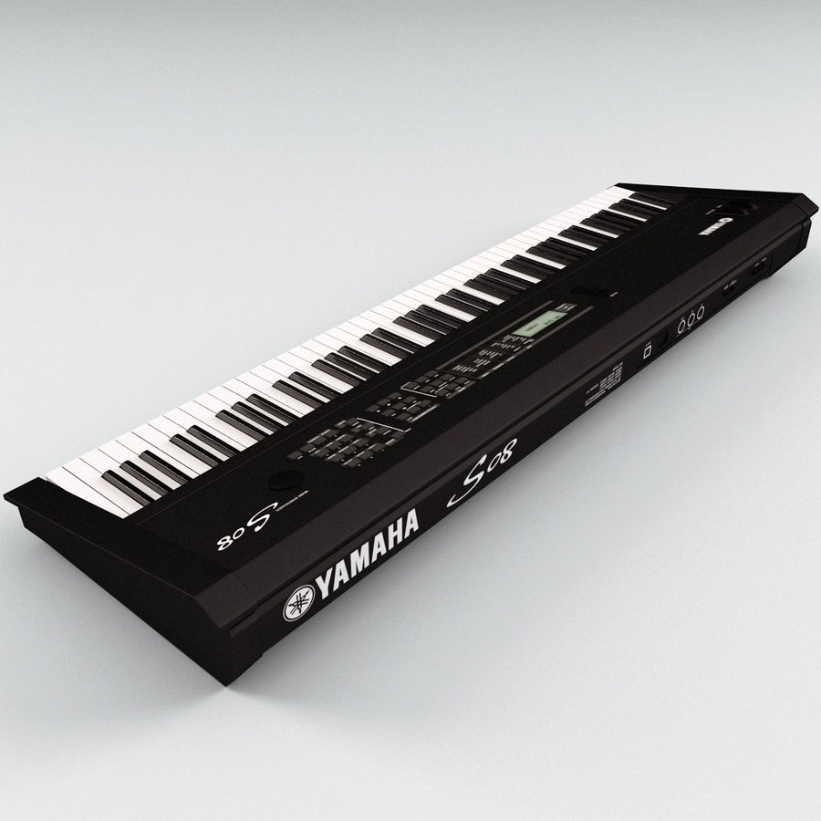 Synthesizer Yamaha S08 royalty-free 3d model - Preview no. 6