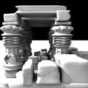 Underwater Ruins 3d model