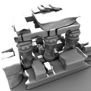 Ruinas bajo el agua modelo 3d