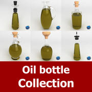 Oil Bottle Collection 3d model