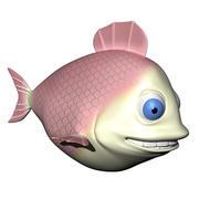 Pink Fish Character 3d model